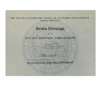 Ambasador Biznesu Stanu Nevada