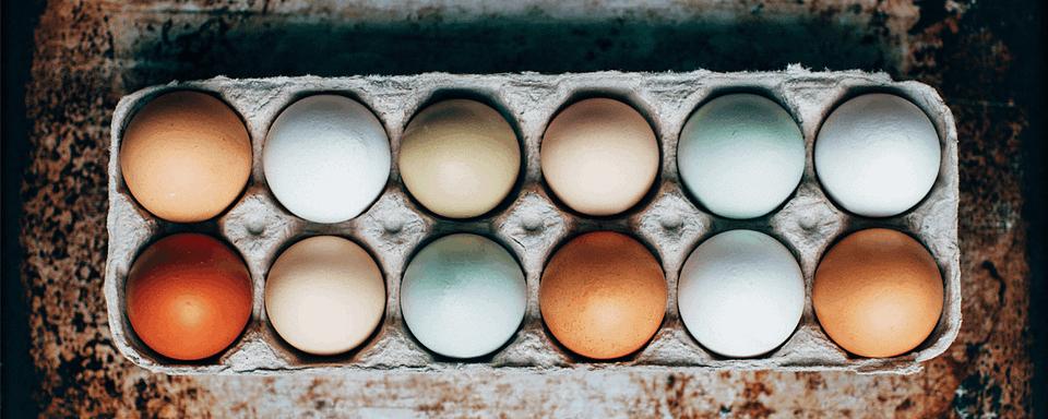 Jajka w opakowaniu - symbol wielkanocy