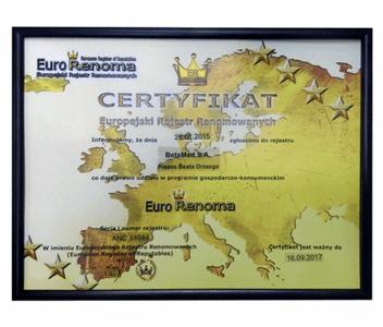 Certyfikat Eurorenoma